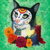 Tigerpixie Update! New Day of the Dead Cat Art & Calendar! The Rabbits July Auction & Pensacola Comic Con