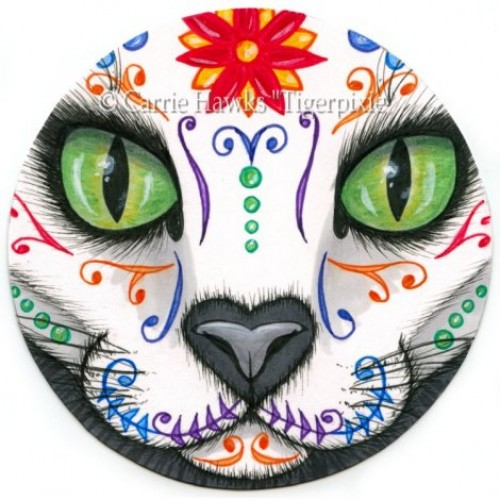 Original - Day of the Dead Cat Face 1