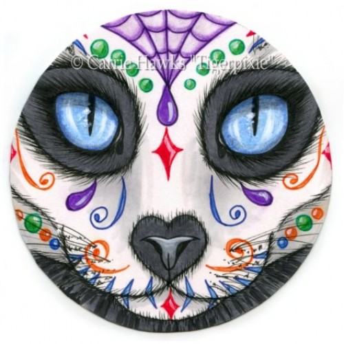 Original - Day of the Dead Cat Face 3