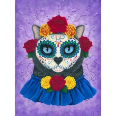 LE Canvas - Day of the Dead Cat Gal