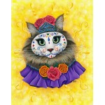 LE Canvas - Day of the Dead Cat Princess