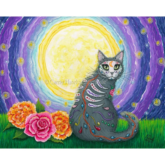 Limited Edition Canvas Prints, Fantasy Cat Art, Cat Paintings by Cat ...