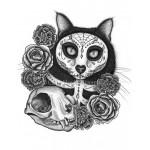 Prints - Day of the Dead Cat Skull