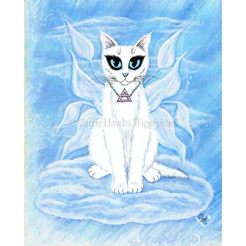 Prints - Elemental Air Fairy Cat