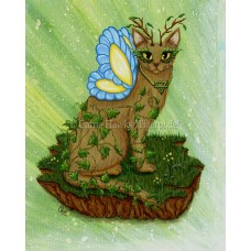 Prints - Elemental Earth Fairy Cat