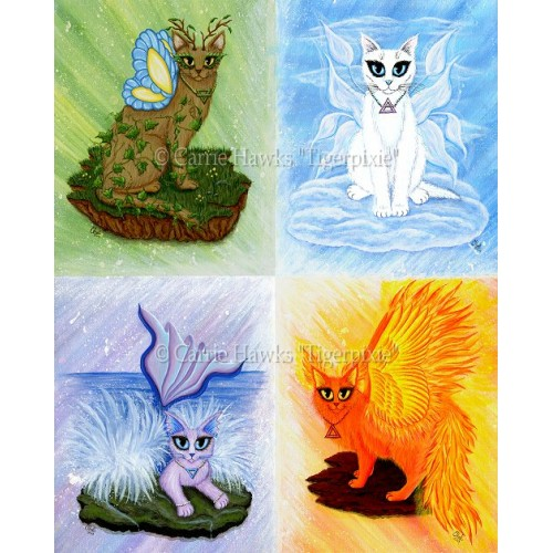 Prints - Elemental Fairy Cats