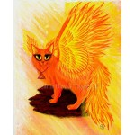 LE Canvas - Elemental Fire Fairy Cat