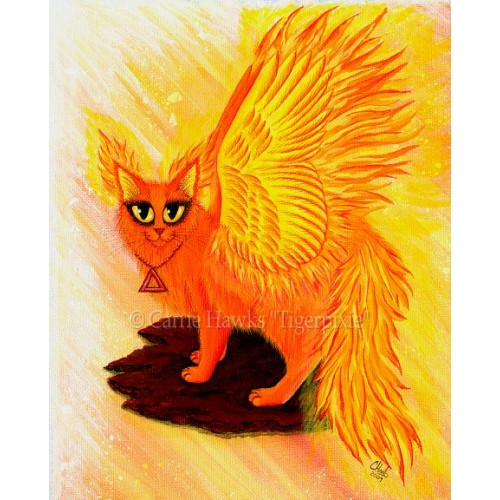 Original - Elemental Fire Fairy Cat