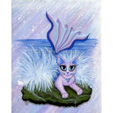 Prints - Elemental Water Mermaid Cat