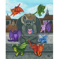 Prints - The Guardian Gargoyle