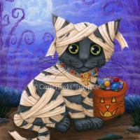 Tigerpixie Update! New Art Lil Mummy Kitten, Halloween Patreon Coloring Pages, WIP Voodoo Fairy Cat Doll!
