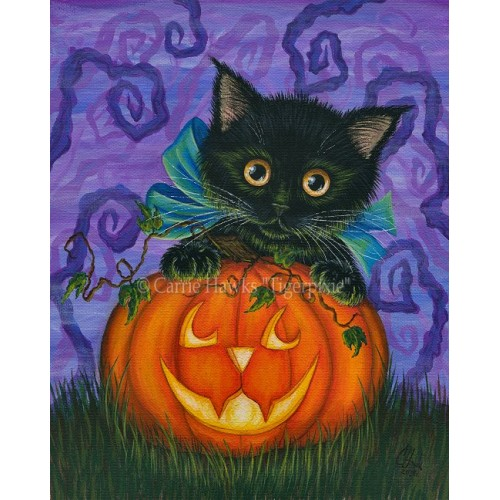 Prints - Halloween Black Kitty