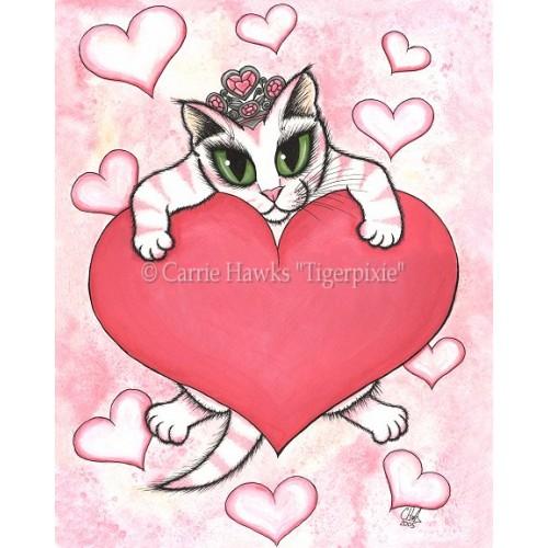 Prints - Kitten With Heart