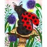 Prints - Logan Ladybug Fairy Cat