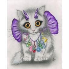 Prints - Little Purple Horns