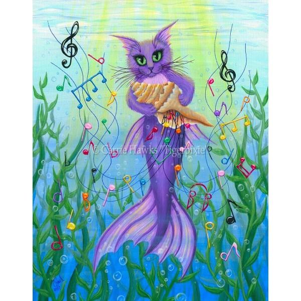 Musical Mercat Mermaid Cat Rainbow