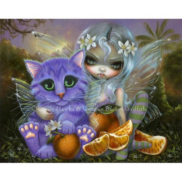 Jasmine Becket-Griffith art Orange Cheshire Cat Collectible Enamel Pin