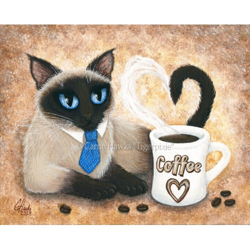 Prints - Siamese Coffee Cat