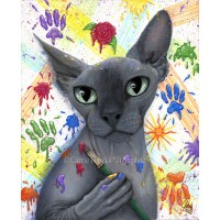 Tigerpixie Update! New Art Sphynx Cat, DragonCon Info & Exclusive Pins, New Patreon Perks!