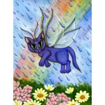 Prints - Spring Showers Fairy Cat