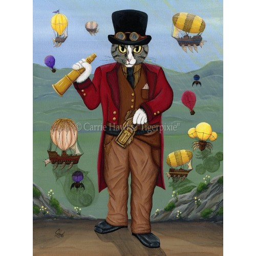 LE Canvas - Steampunk Cat Guy