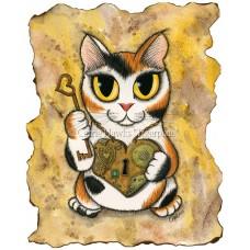LE Canvas - Steampunk Valentine Cat
