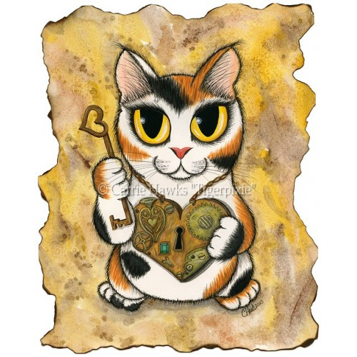 Prints - Steampunk Valentine Cat