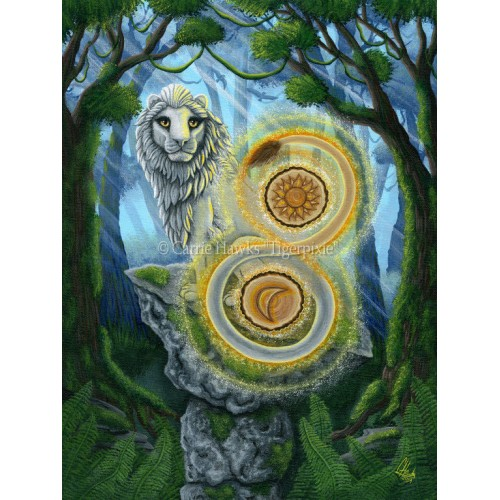 Prints - Stone Balanced Lion