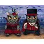 Prints - Vampire Cat Couple