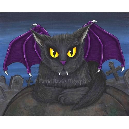 Prints - Vlad Vampire Cat