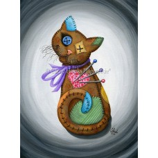 LE Canvas - Voodoo Cat Doll