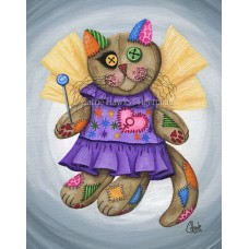 LE Canvas - Voodoo Empress Fairy Cat Doll
