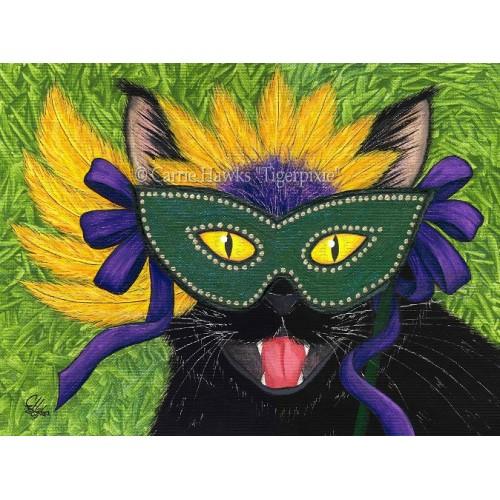 LE Canvas - Wild Mardi Gras Cat