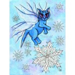 Prints - Winter Snowflake Fairy Cat