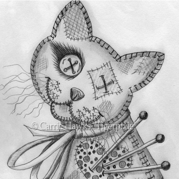 voodoo doll drawings - 600×600
