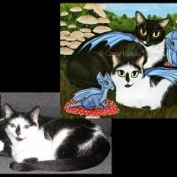 Nami & Rookia\'s Dragons, 16x12 Acrylic Painting
