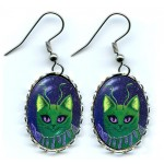 Earrings - Alien Cats