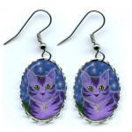 Earrings - Astra Moon Cat