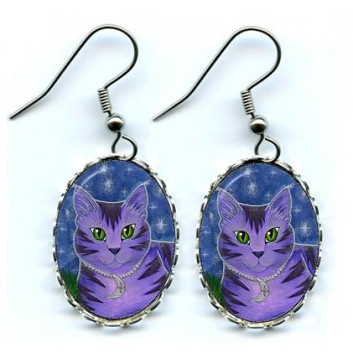 Earrings - Astra Moon Cat