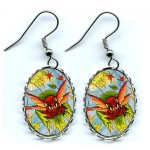 Earrings - Autumn Winds Fairy Cat