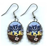 Earrings - Blue Jay Kittens