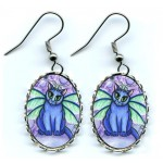 Earrings - Bubble Fairy Cat