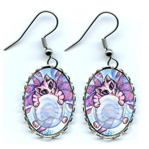 Earrings - Bubble Fairy Kitten