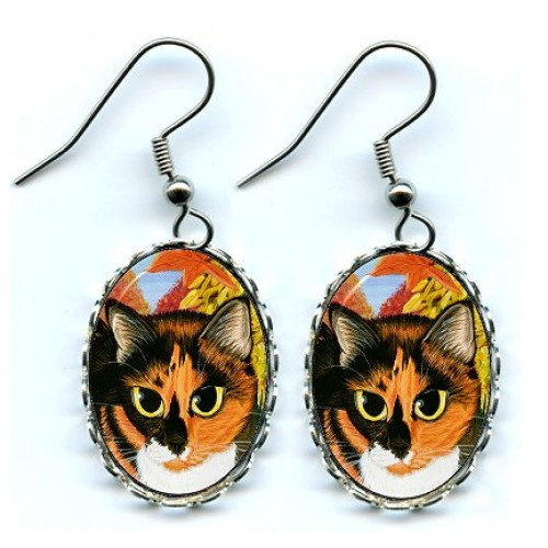 Earrings - Calico's Mystical Pumpkin