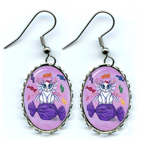 Earrings - Candy Fairy Cat, Hard Candy