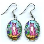 Earrings - Dea Dragonfly Cat