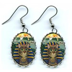 Earrings - Egyptian Pharaoh Cat