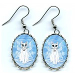 Earrings - Elemental Air Fairy Cat
