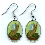 Earrings - Elemental Earth Fairy Cat