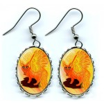 Earrings - Elemental Fire Fairy Cat